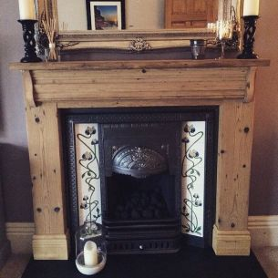 Reclaimed Wood Fireplace 144