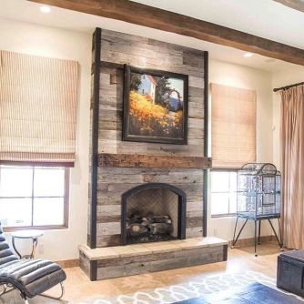 Reclaimed Wood Fireplace 149