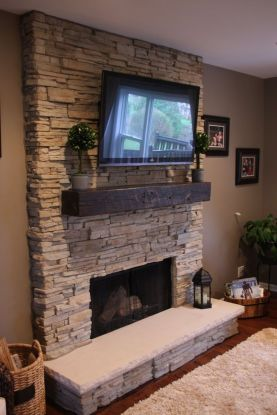 Reclaimed Wood Fireplace 150