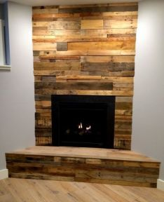 Reclaimed Wood Fireplace 27