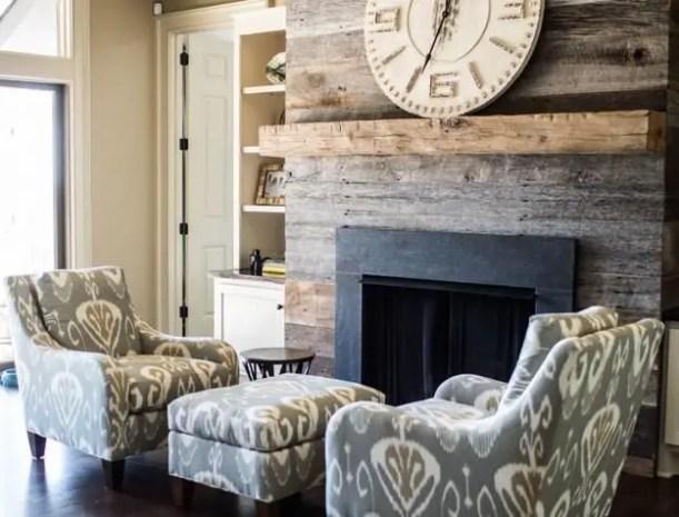 Reclaimed Wood Fireplace 32