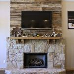 Reclaimed Wood Fireplace 34