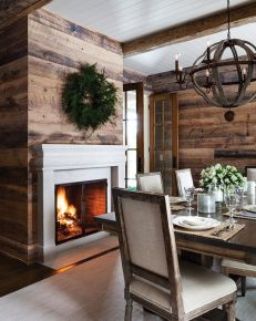 Reclaimed Wood Fireplace 38