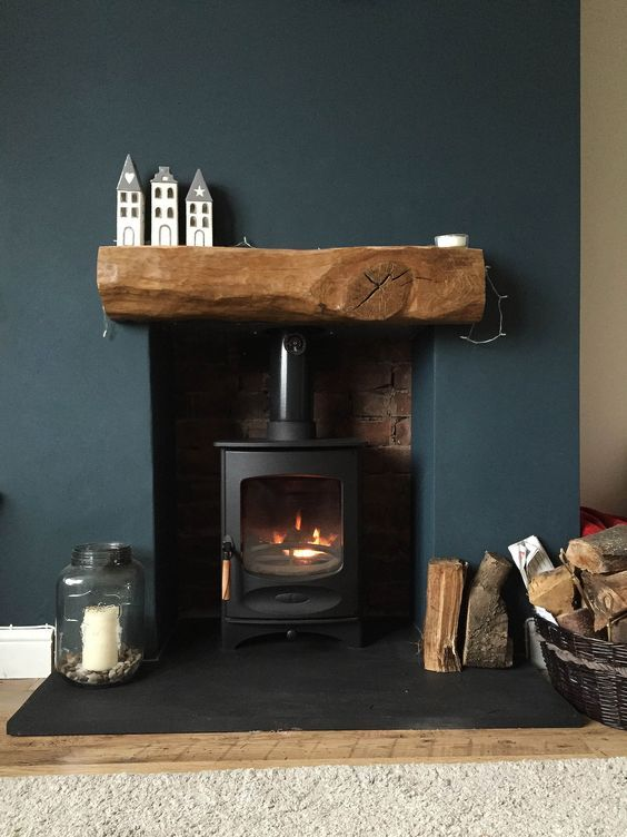Reclaimed Wood Fireplace 41