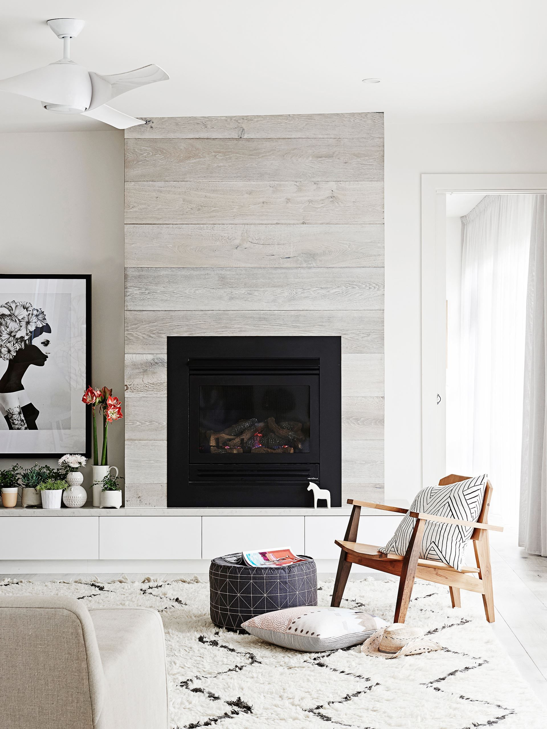 Reclaimed Wood Fireplace 42