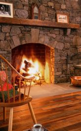 Reclaimed Wood Fireplace 45