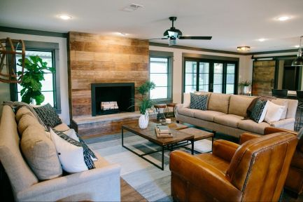 Reclaimed Wood Fireplace 53