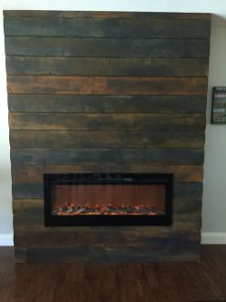 Reclaimed Wood Fireplace 55