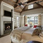 Reclaimed Wood Fireplace 60