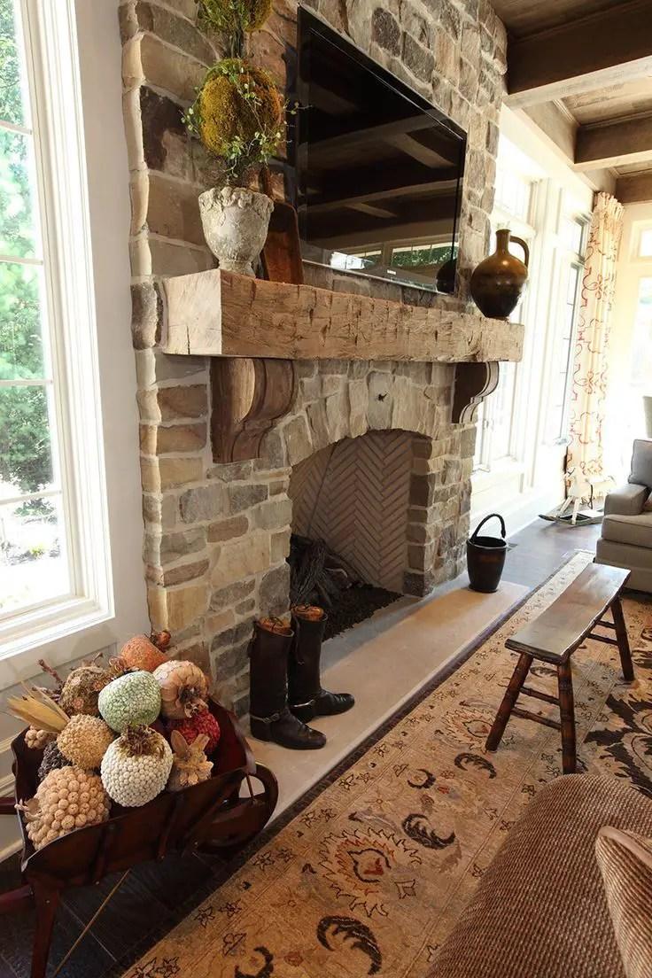 Reclaimed Wood Fireplace 63