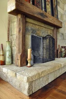 Reclaimed Wood Fireplace 64