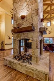 Reclaimed Wood Fireplace 68