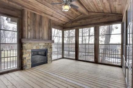 Reclaimed Wood Fireplace 86