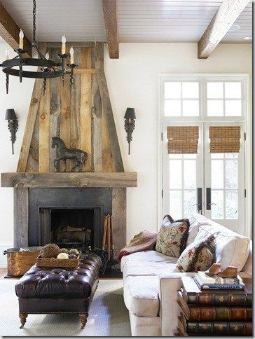 Reclaimed Wood Fireplace 87
