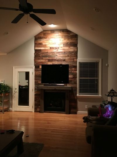 Reclaimed Wood Fireplace 89