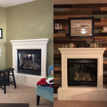 Reclaimed Wood Fireplace 9