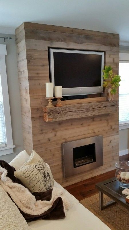 Reclaimed Wood Fireplace 98