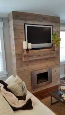 Reclaimed Wood Fireplace 98
