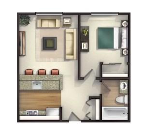 Small Apartment Bedroom Decor 9