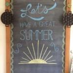 Summer Chalkboard Art 123