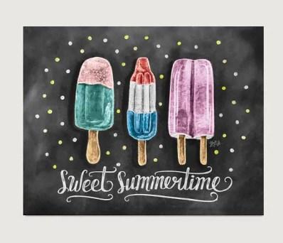 Summer Chalkboard Art 126