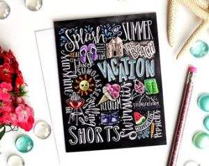 Summer Chalkboard Art 15