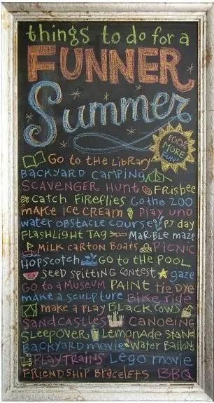 Summer Chalkboard Art 151