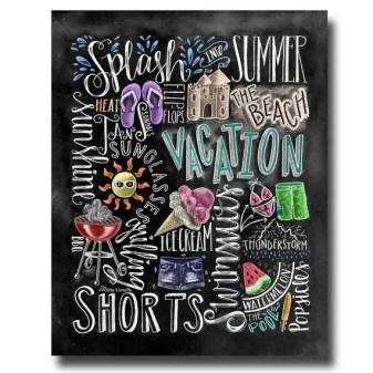 Summer Chalkboard Art 50