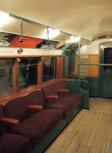 Interior Of 70's London Underground Train