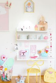 White And Pastel Bedroom 170