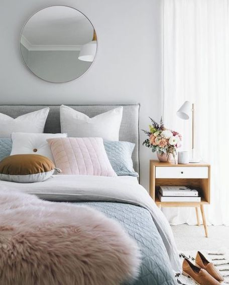 White And Pastel Bedroom 175
