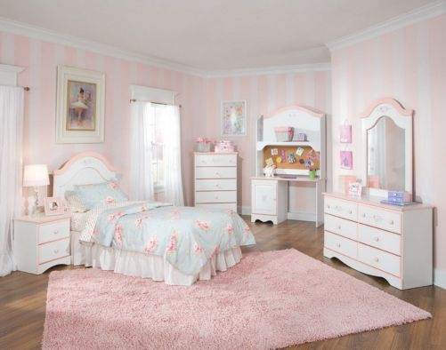 White And Pastel Bedroom 56