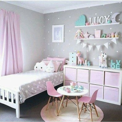 White And Pastel Bedroom 58