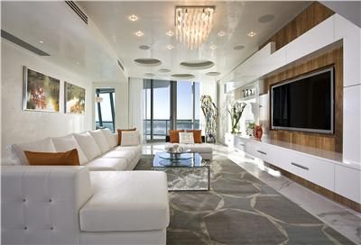 Elegant Contemporary Living Room 40