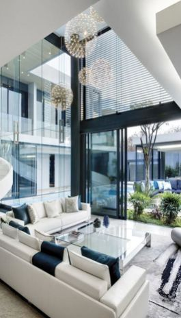 Elegant Contemporary Living Room 8