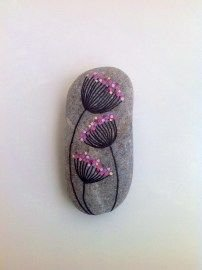 Painted Rocks With Inspirational Picture And Words 106