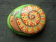 Painted Rocks With Inspirational Picture And Words 120