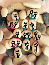 Painted Rocks With Inspirational Picture And Words 129