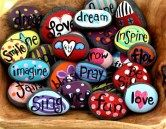 Painted Rocks With Inspirational Picture And Words 134