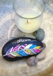 Painted Rocks With Inspirational Picture And Words 15