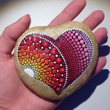Painted Rocks With Inspirational Picture And Words 2