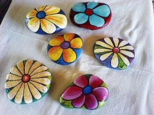 Painted Rocks With Inspirational Picture And Words 22