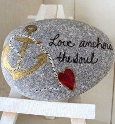 Painted Rocks With Inspirational Picture And Words 41