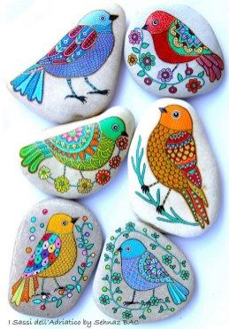 Painted Rocks With Inspirational Picture And Words 43
