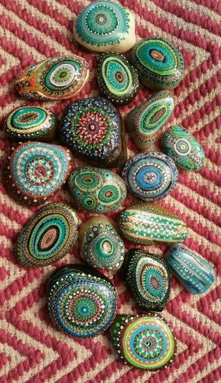 Painted Rocks With Inspirational Picture And Words 55