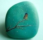 Painted Rocks With Inspirational Picture And Words 65