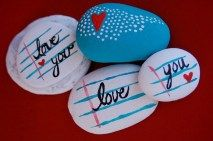 Painted Rocks With Inspirational Picture And Words 69