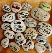 Painted Rocks With Inspirational Picture And Words 72