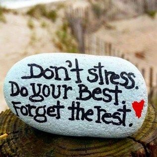 Painted Rocks With Inspirational Picture And Words 87
