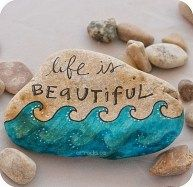 Painted Rocks With Inspirational Picture And Words 89